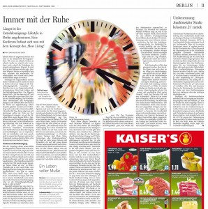 Slow Living Conference in der Morgenpost