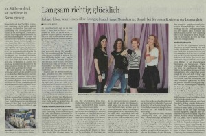 Slow Living Conference in der Berliner Morgenpost am 21. September 2014